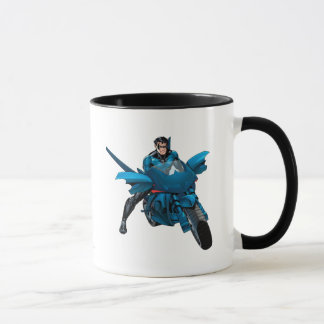 Nightwing on bike mug