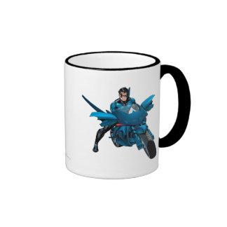 Nightwing on bike ringer mug