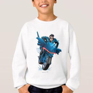 Nightwing rides bike sweatshirt