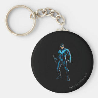 Nightwing Stands Key Ring