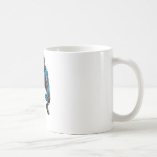 Nightwing with Weapons Basic White Mug