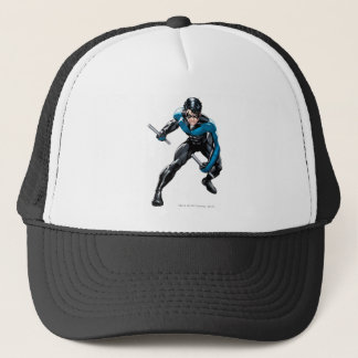 Nightwing with Weapons Trucker Hat