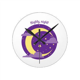 Nighty Night Round Wall Clock
