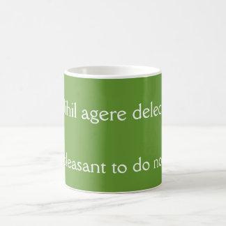 Nihil agere delectat coffee mug