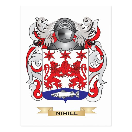 Nihill Coat of Arms (Family Crest) Post Card