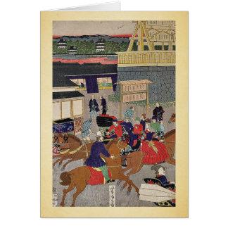 Nihonbashi section of Tokyo by Utagawa,Yoshitora Card