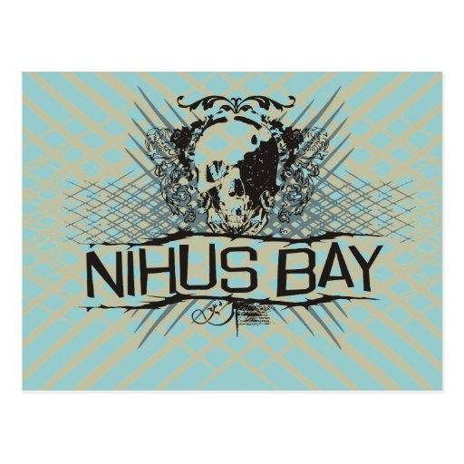 Nihus Bay Skull Graphic Tshirts and Gifts Post Card