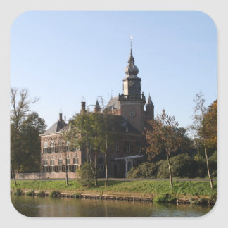 Nijenrode castle square sticker