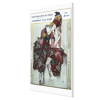 Nijinsky dans La Peri — Ballets Russes Gallery Wrapped Canvas
