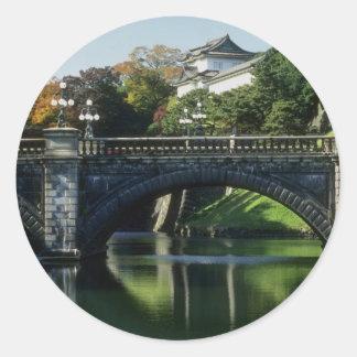 Nijubashi Bridge ceremonial gateway to the palace Stickers