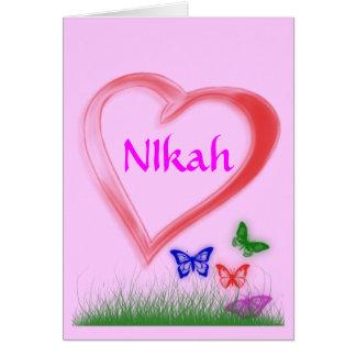Nikah -  Wedding Celebration Greeting Card