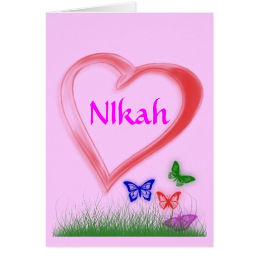 nikah wedding celebration greeting card zazzle. Black Bedroom Furniture Sets. Home Design Ideas