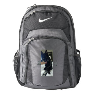 Nike backpack remote tongue cat funny KC
