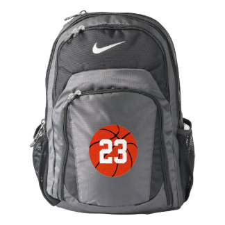 Nike Basketball Custom Jersey Number Team Backpack