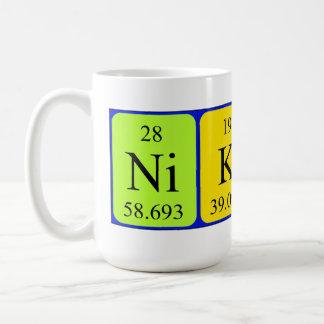 Nikita periodic table name mug