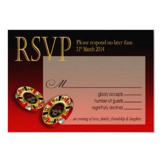 Nikki Las Vegas Deluxe RSVP response 9 Cm X 13 Cm Invitation Card