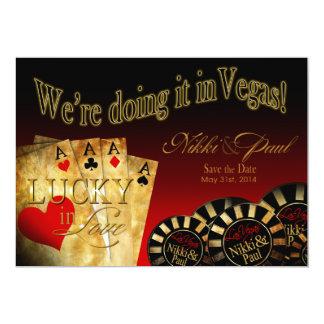Nikki & Paul Las Vegas Deluxe Save the Date Card