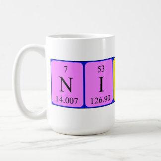 Nikki periodic table name mug