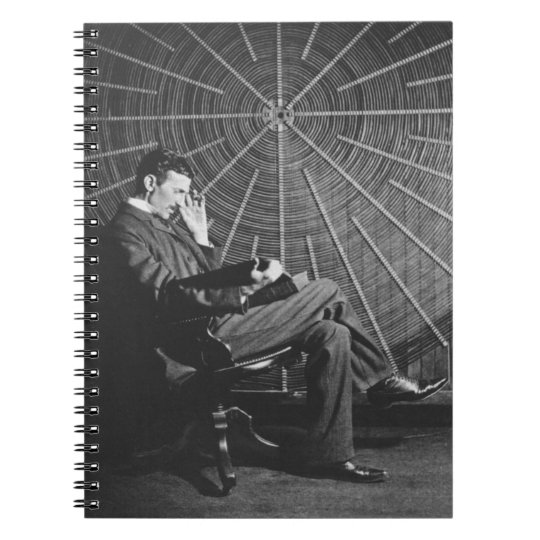 Nikola Tesla,1896 Spiral Notebook