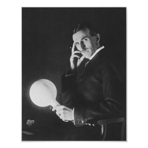 Nikola Tesla, 1898. Poster