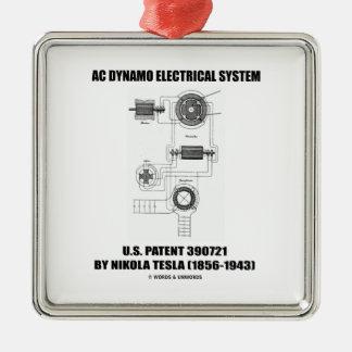 Nikola Tesla AC Dynamo Electrical System Patent Christmas Ornament