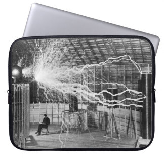 Nikola Tesla at his Colorado Springs Lab, 1899. Laptop Sleeve