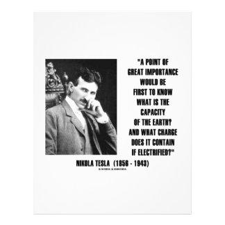 Nikola Tesla Capacity Of Earth Charge Electrified Custom Flyer