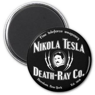 Nikola Tesla Death-Ray Co. 6 Cm Round Magnet