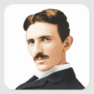 Nikola Tesla Electrical Genius Square Sticker