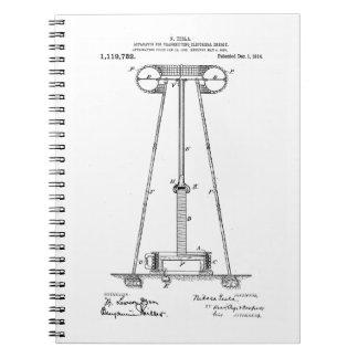 Nikola Tesla Energy Transmission Pantent US1119732 Notebook