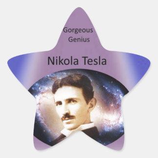 Nikola Tesla Genius Star Sticker