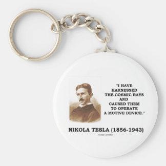 Nikola Tesla Harnessed Cosmic Rays Motive Device Keychains