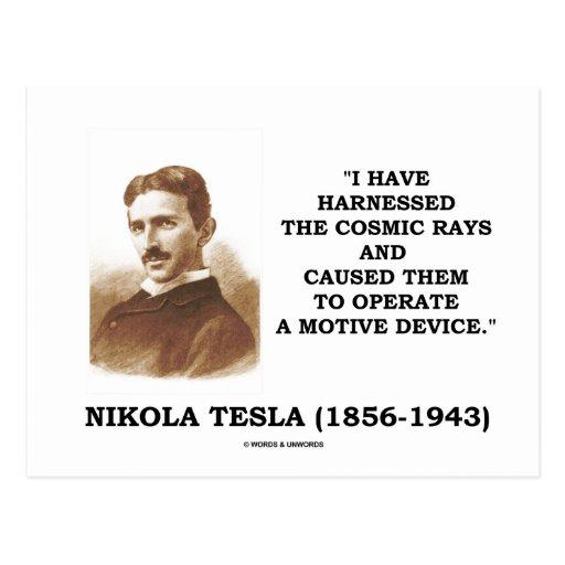 Nikola Tesla Harnessed Cosmic Rays Motive Device Post Cards