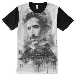 Nikola Tesla, Master of Lightning All-Over Print T-Shirt