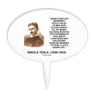Nikola Tesla Money Value Discoveries Easier Life Cake Toppers