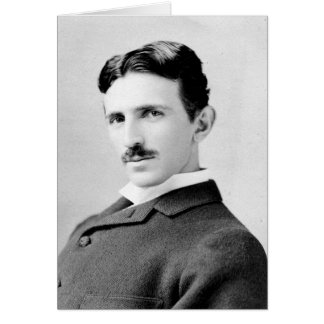 Nikola Tesla Portrait Greeting Card