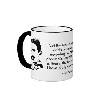 Nikola Tesla & Quote Ringer Mug