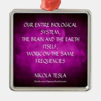 Nikola Tesla Quote - Same Frequencies Christmas Ornament