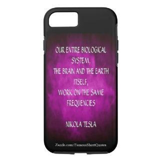 Nikola Tesla Quote - Same Frequencies iPhone 8/7 Case