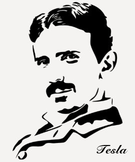 Nikola Tesla Rules! Black T Shirt