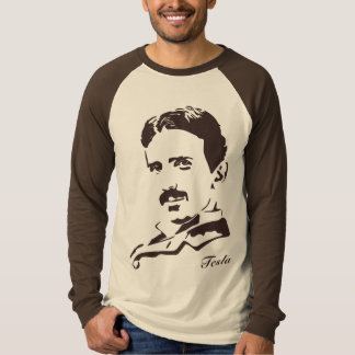 Nikola Tesla Rules! Brown T-Shirt