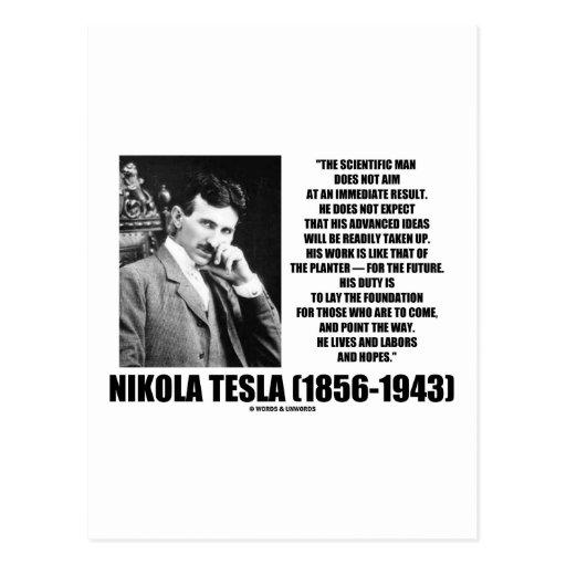Nikola Tesla Scientific Man Does Not Aim Immediate Post Card
