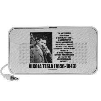 Nikola Tesla Scientific Man Does Not Aim Immediate Portable Speaker