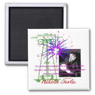 Nikola Tesla Square Magnet