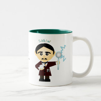 Nikola Tesla Two-Tone Coffee Mug