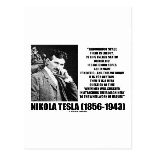 Nikola Tesla Wheelwork Of Nature Kinetic Energy Postcards