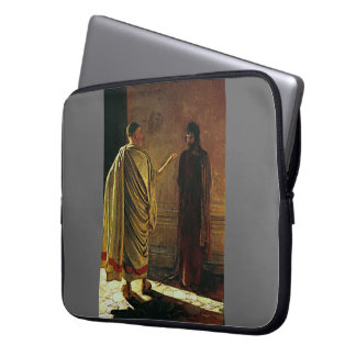 Nikolai Ge- What is Truth. Christ and Pilate Laptop Computer Sleeves