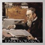 Nikolai Rimsky-Korsakov Customisable Poster