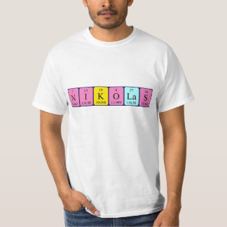 Nikolas periodic table name shirt