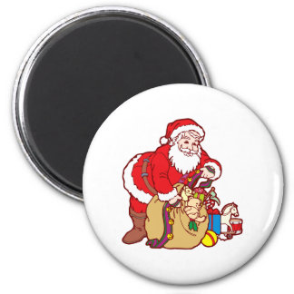 Nikolaus Santa Claus Santa Claus 6 Cm Round Magnet